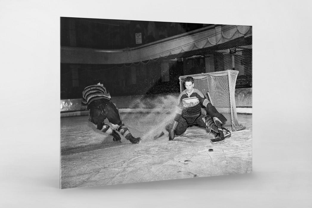Der Goalie von Streatham als Direktdruck auf Alu-Dibond hinter Acrylglas