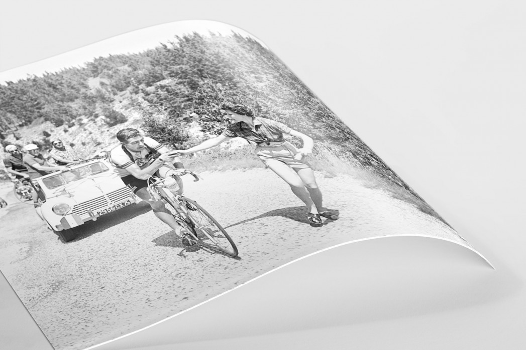 Apfel geben bei der Tour 1955 als FineArt-Print