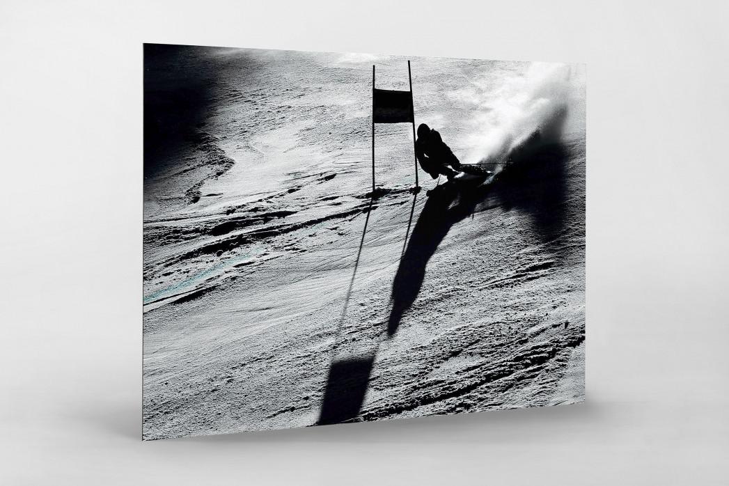 Slalomschatten als auf Alu-Dibond kaschierter Fotoabzug