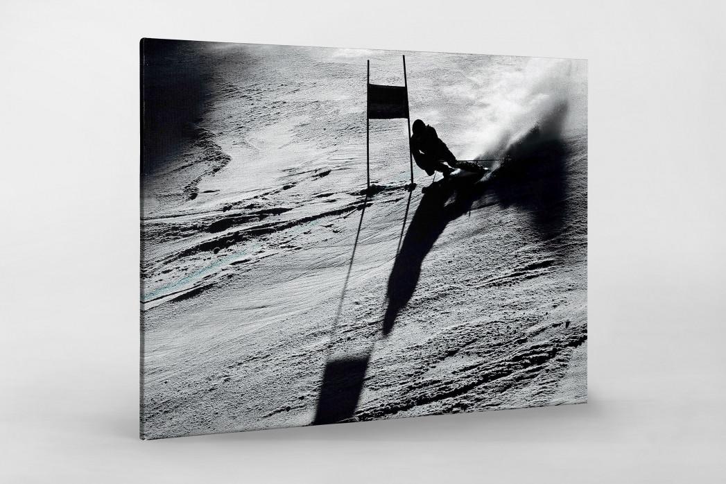 Slalomschatten als Leinwand auf Keilrahmen gezogen