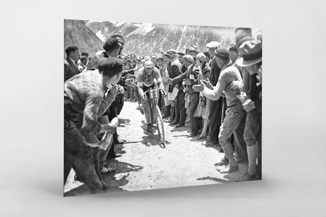 Anfeuern bei der Tour 1930 als auf Alu-Dibond kaschierter Fotoabzug