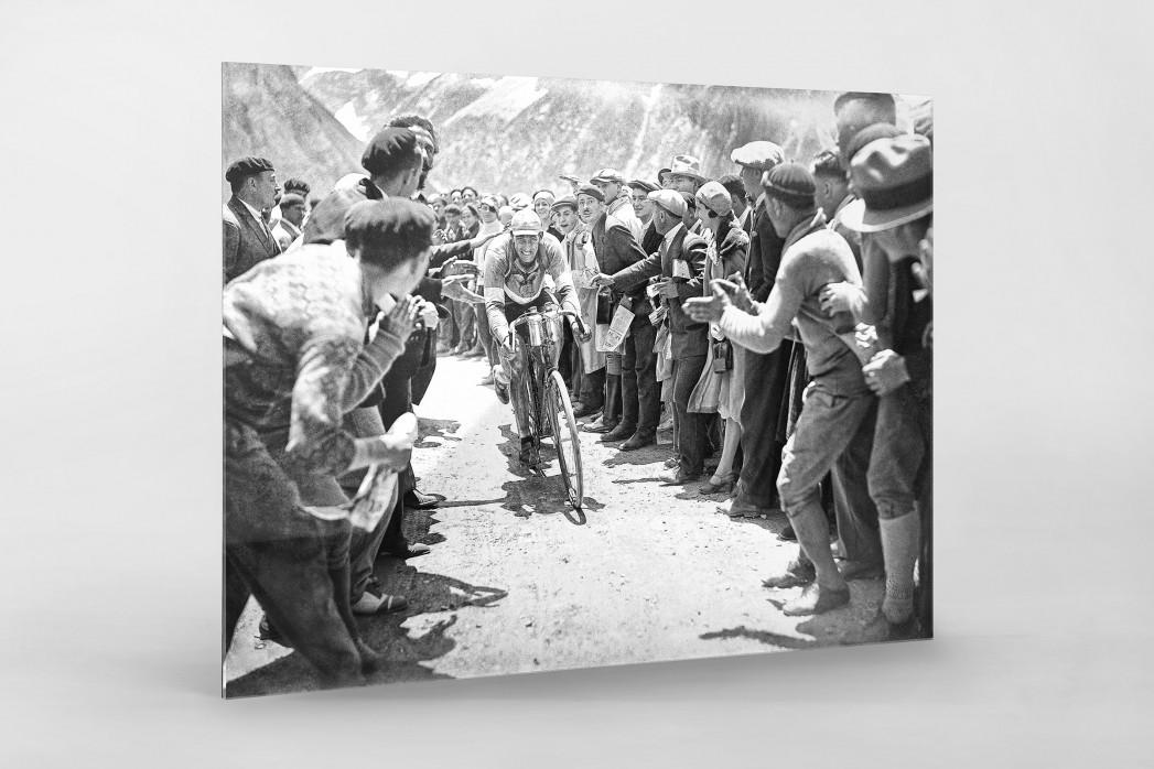 Anfeuern bei der Tour 1930 als Direktdruck auf Alu-Dibond hinter Acrylglas