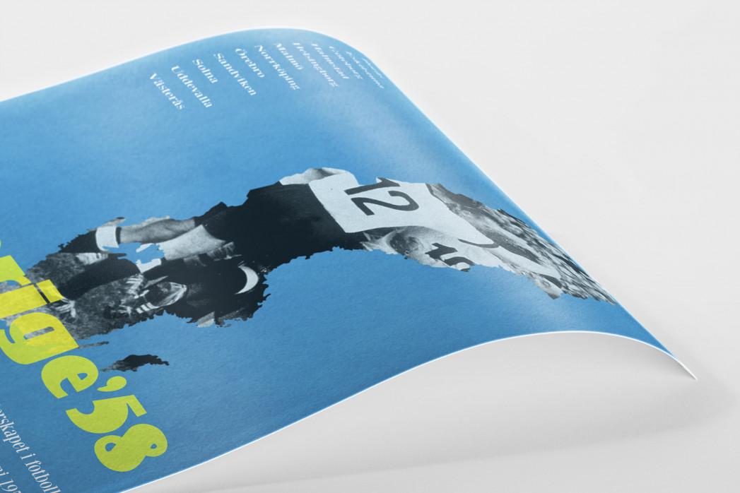 1958  Sverige  als Poster