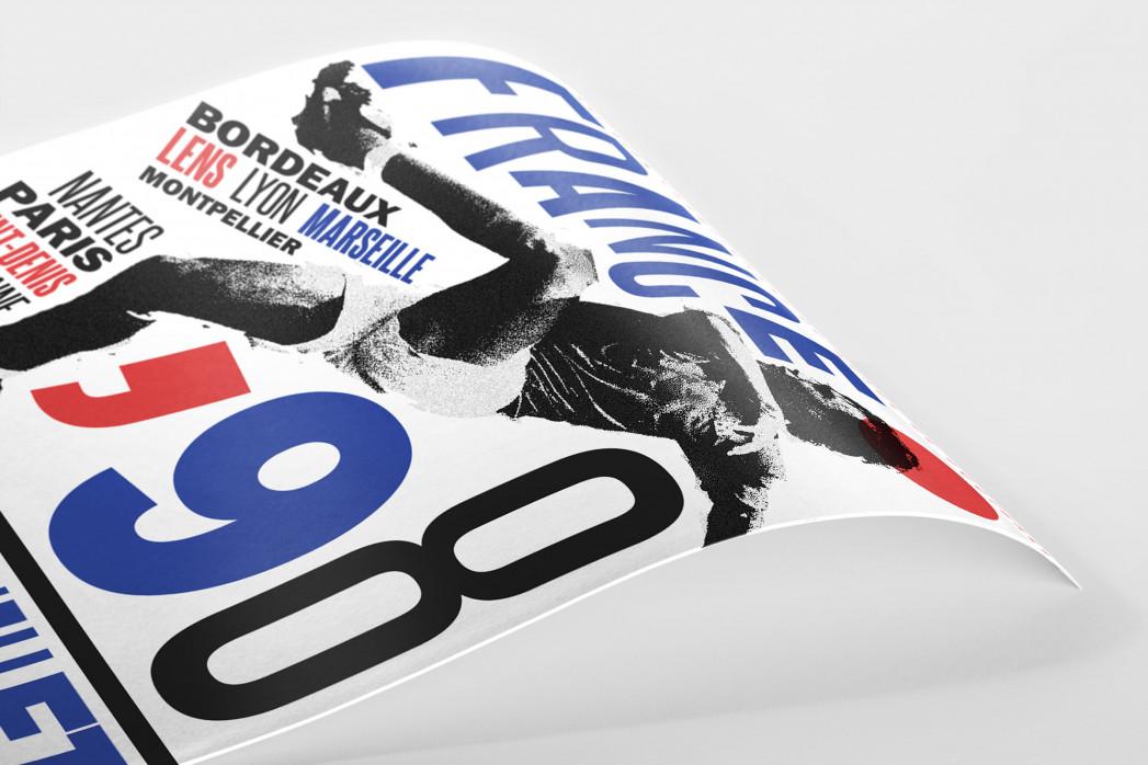 1998 France als Poster
