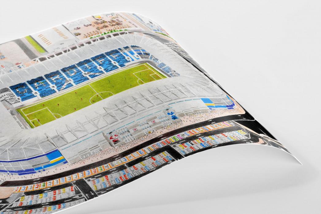 Stadia Art: Cardiff City Stadium als Poster