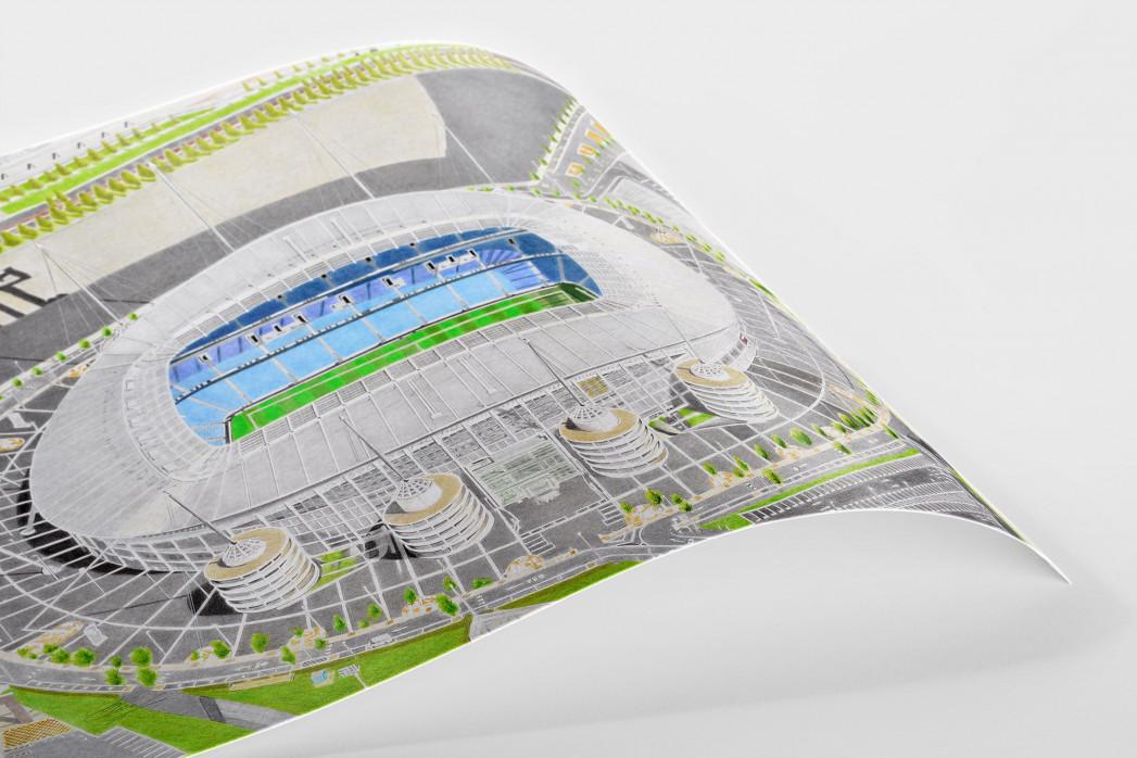Stadia Art: Etihad Stadium als Poster