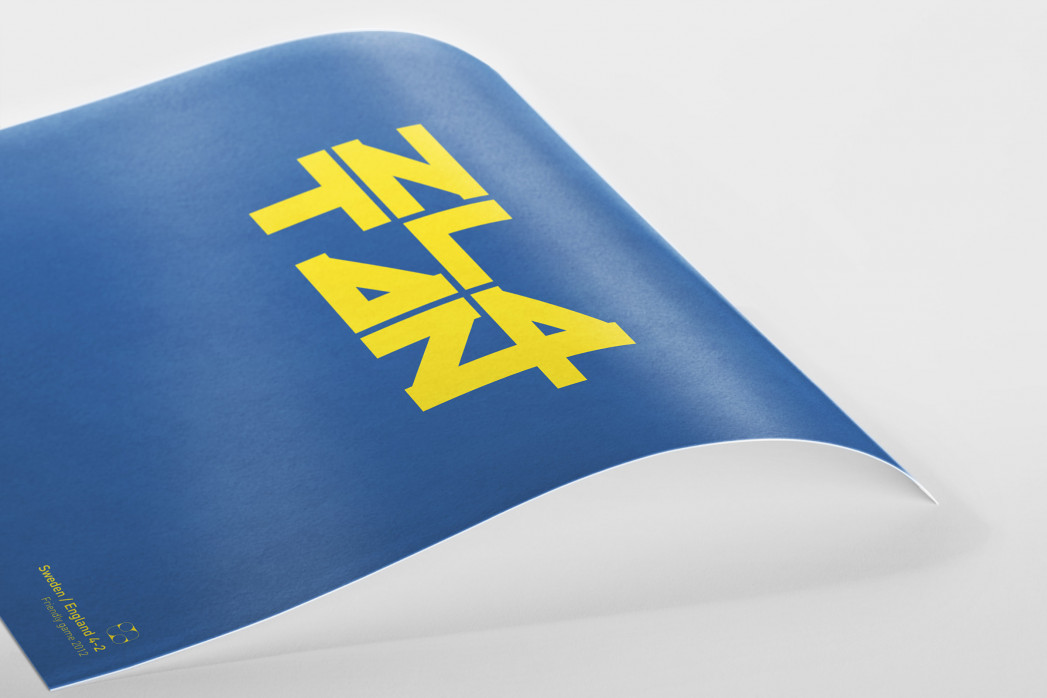Zlatan: Sweden-England 4:2 als Poster
