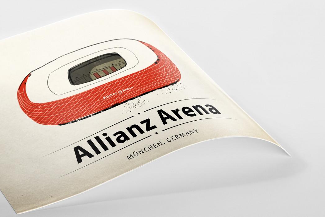 World Of Stadiums: Allianz Arena als Poster