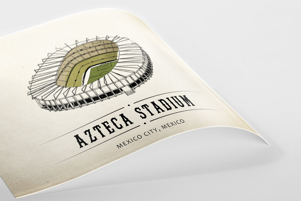 World Of Stadiums: Azteca Stadium als Poster