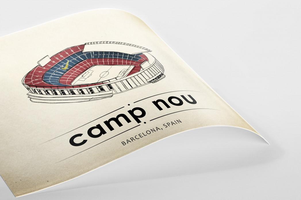 World Of Stadiums: Camp Nou als Poster