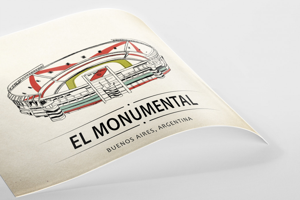 World Of Stadiums: El Monumental als Poster