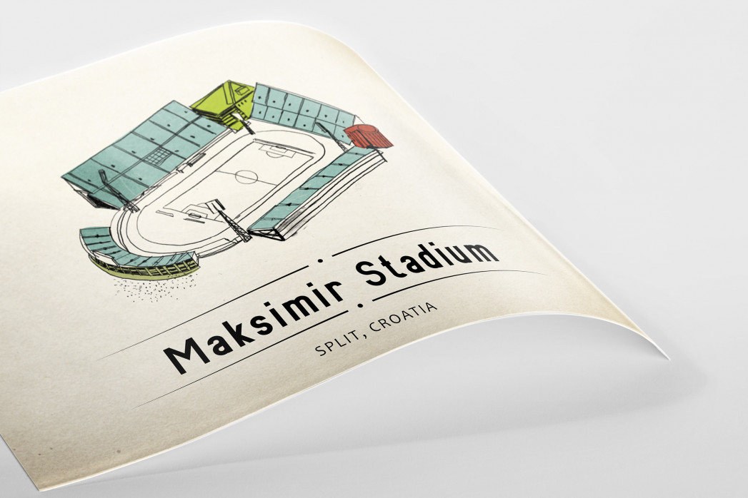 World Of Stadiums: Maksimir Stadium als Poster