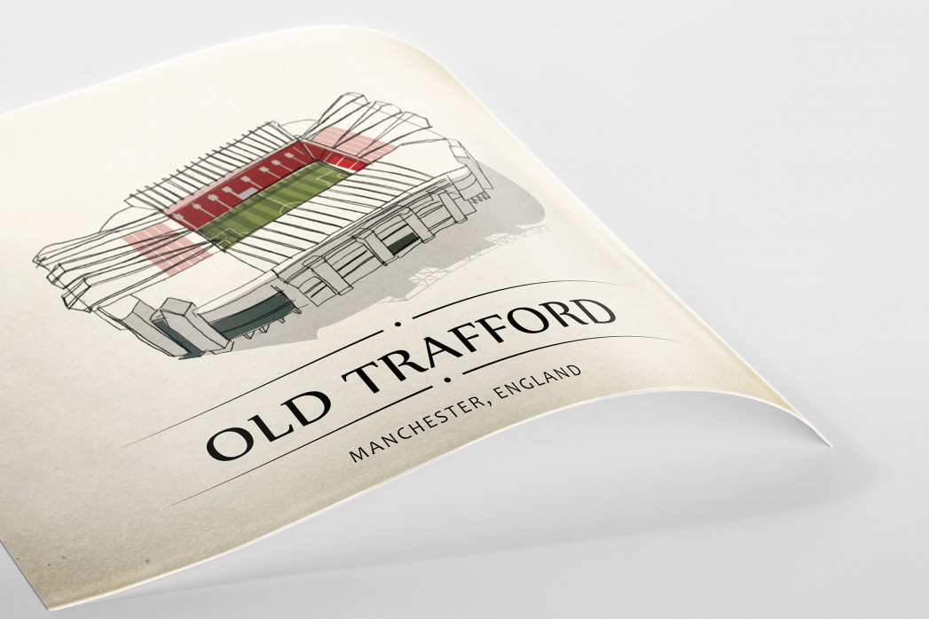 World Of Stadiums: Old Trafford als Poster