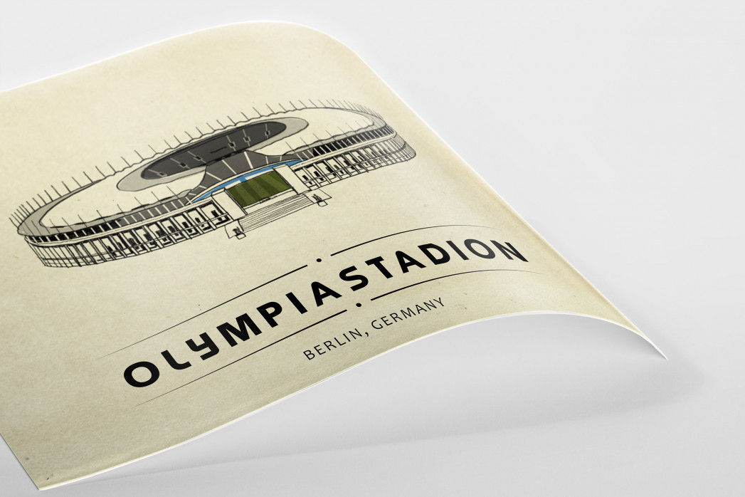 World Of Stadiums: Olympiastadion als Poster
