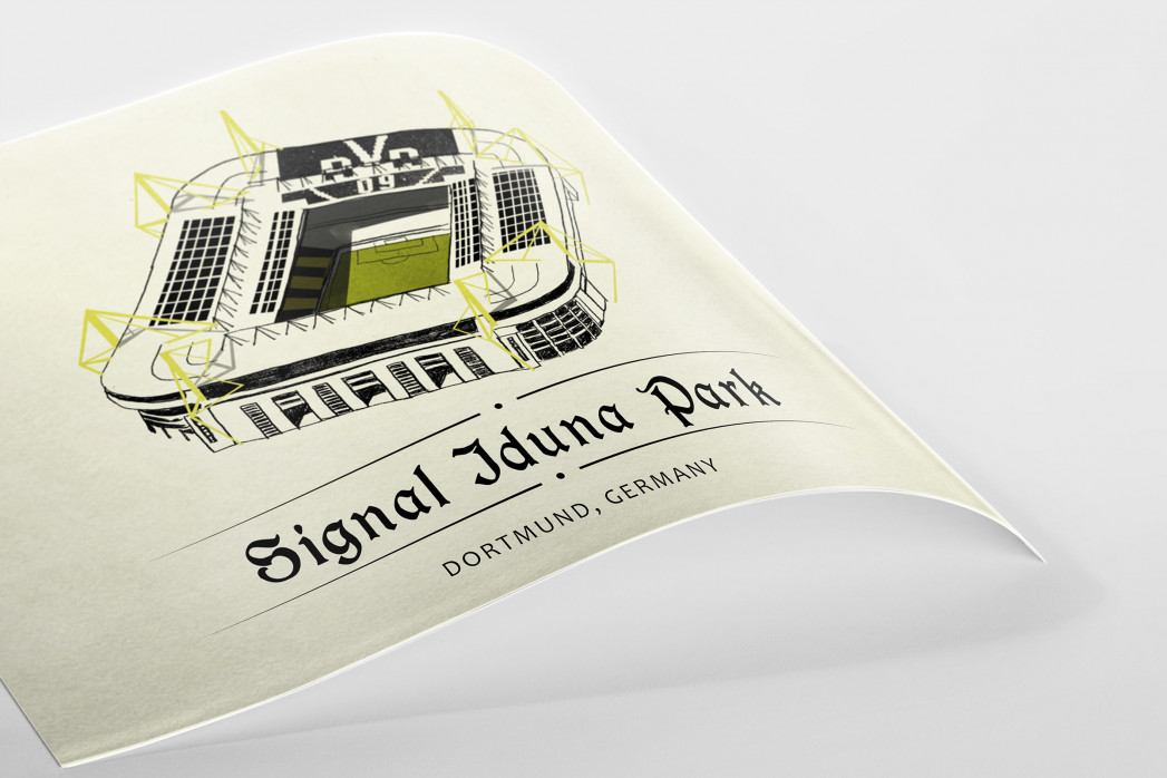 World Of Stadiums: Signal-Iduna-Park als Poster