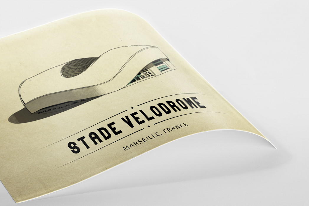 World Of Stadiums: Stade Vélodrome als Poster