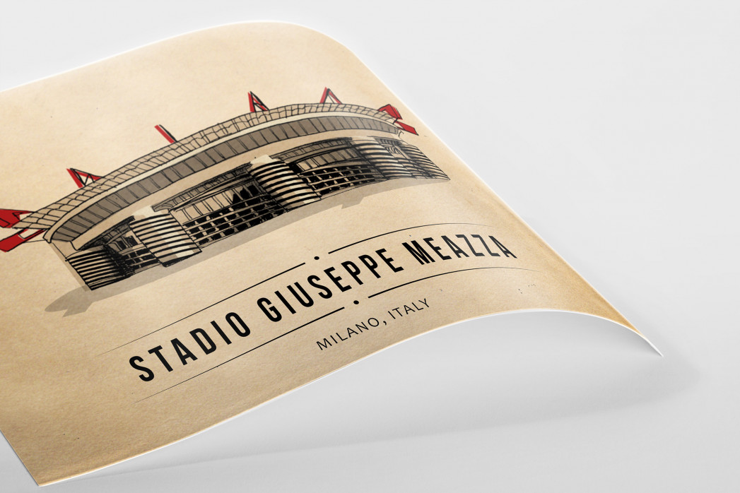 World Of Stadiums: Stadio Giuseppe Meazza als Poster