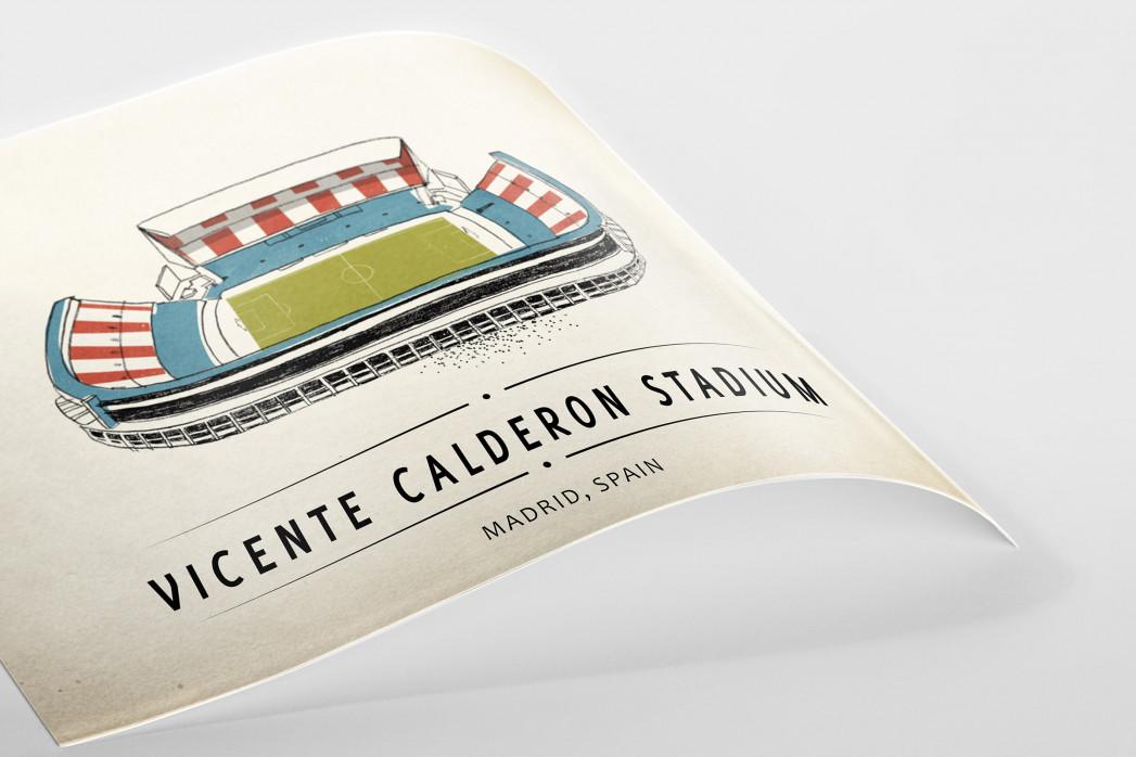 World Of Stadiums: Vicente Calderon Stadium als Poster