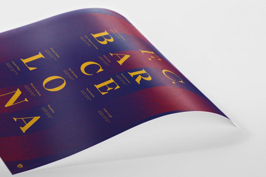 Legendary XI: Barça als Poster