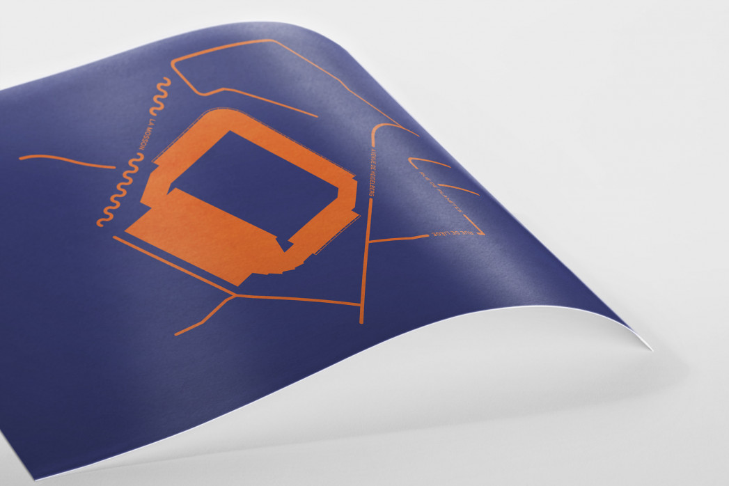 Piktogramm: Montpellier als Poster