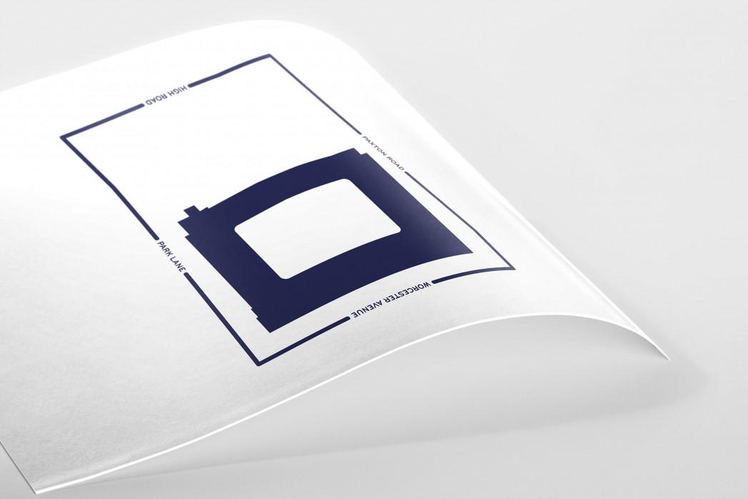 Piktogramm: Tottenham als Poster