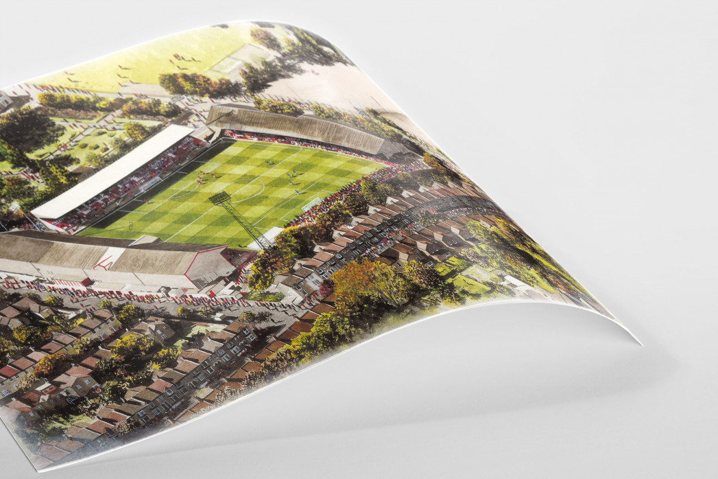 Stadia Art: Brisbane Road als Poster