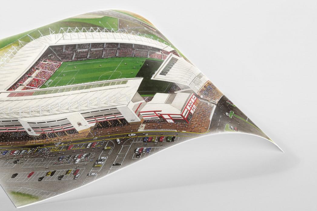 Stadia Art: Britannia Stadium als Poster