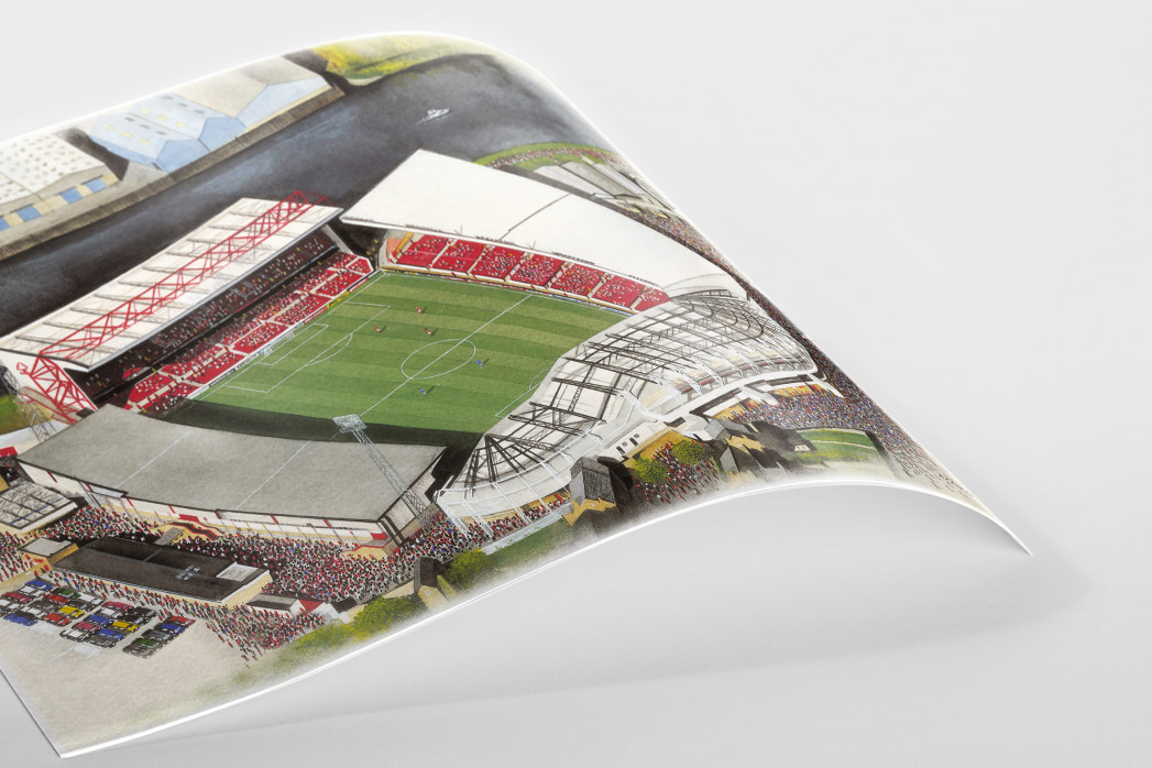 Stadia Art: City Ground als Poster