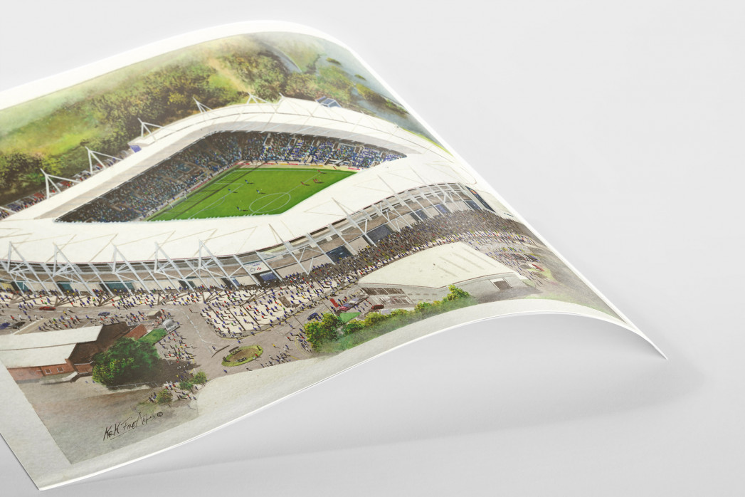 Stadia Art: King Power Stadium als Poster