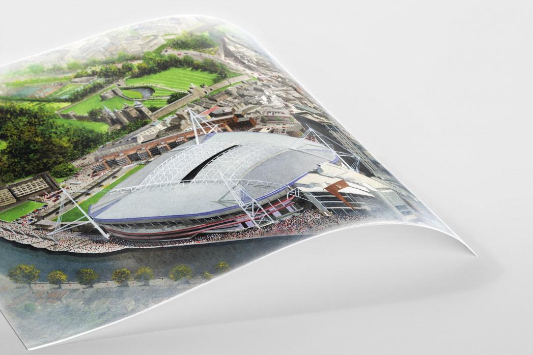 Stadia Art: Millennium Stadium als Poster