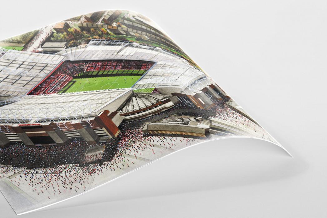 Stadia Art: Old Trafford als Poster
