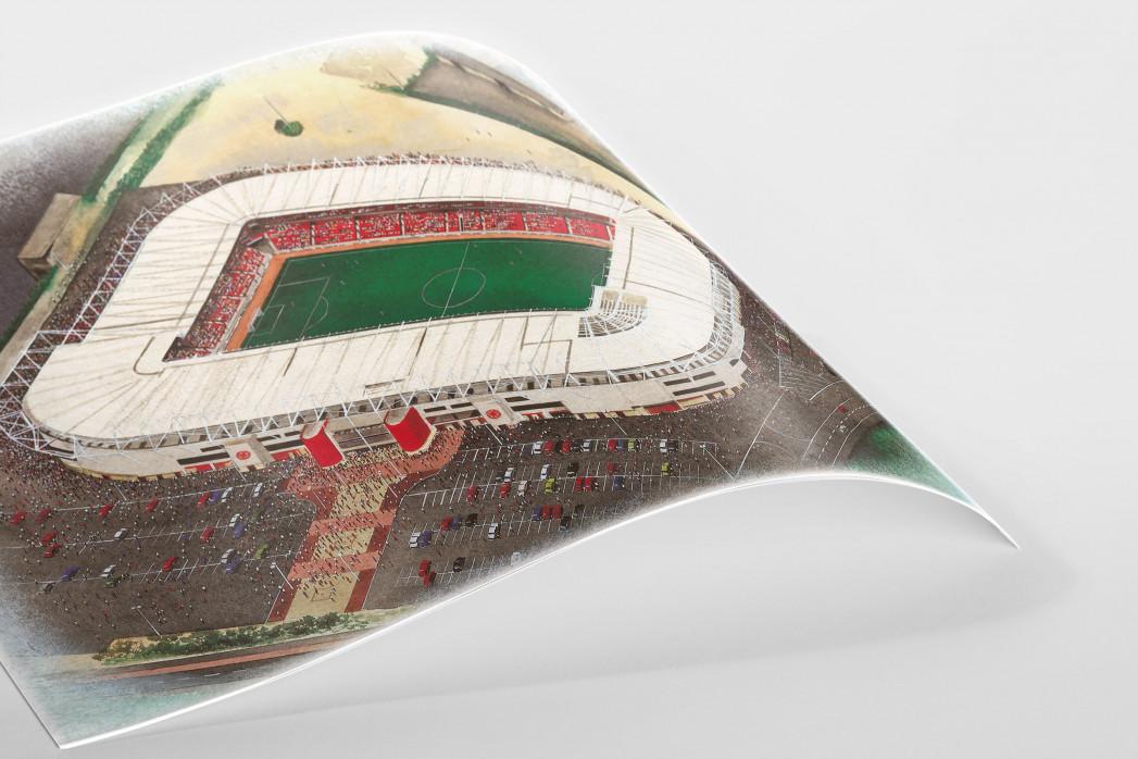 Stadia Art: Riverside Stadium als Poster