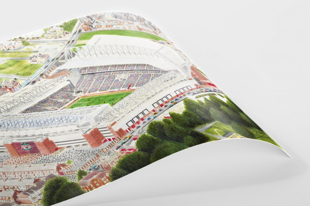 Stadia Art: Anfield (4) als Poster