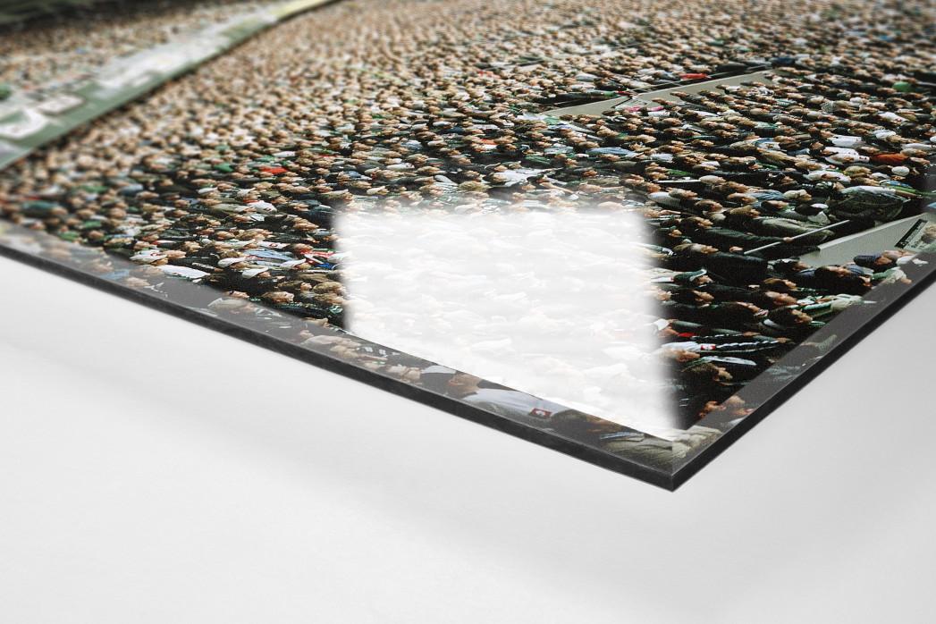 Mönchengladbach (2008) als Direktdruck auf Alu-Dibond hinter Acrylglas (Detail)