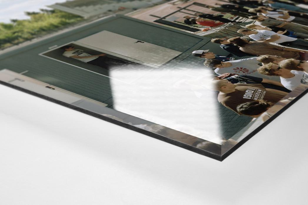 Berlin (Poststadion) als Direktdruck auf Alu-Dibond hinter Acrylglas (Detail)