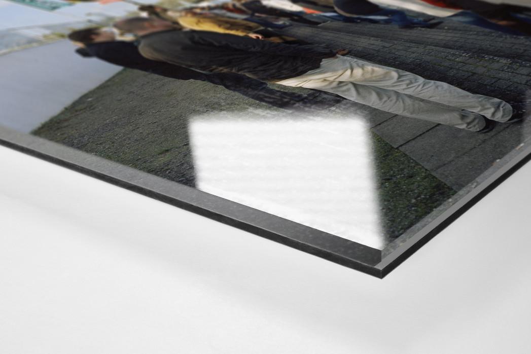 Lübeck als Direktdruck auf Alu-Dibond hinter Acrylglas (Detail)