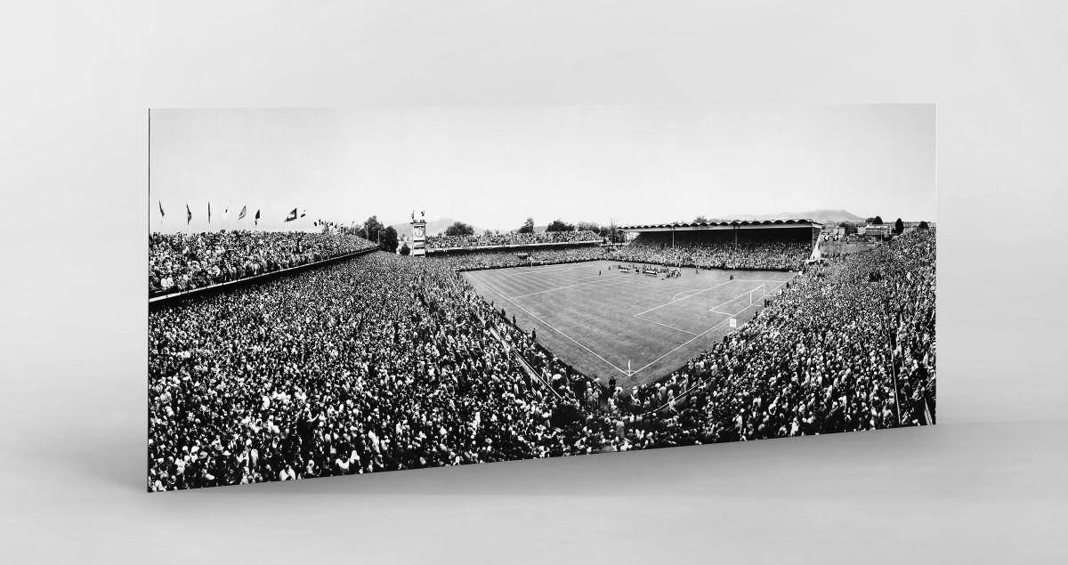 Bern Wankdorfstadion 1954 als auf Alu-Dibond kaschierter Fotoabzug
