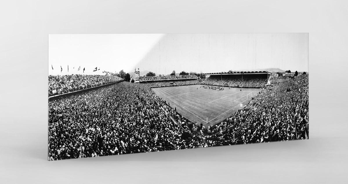 Bern Wankdorfstadion 1954 als Direktdruck auf Alu-Dibond hinter Acrylglas