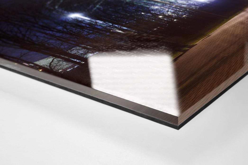 Borussia Park bei Flutlicht (Panorama) als Direktdruck auf Alu-Dibond hinter Acrylglas (Detail)