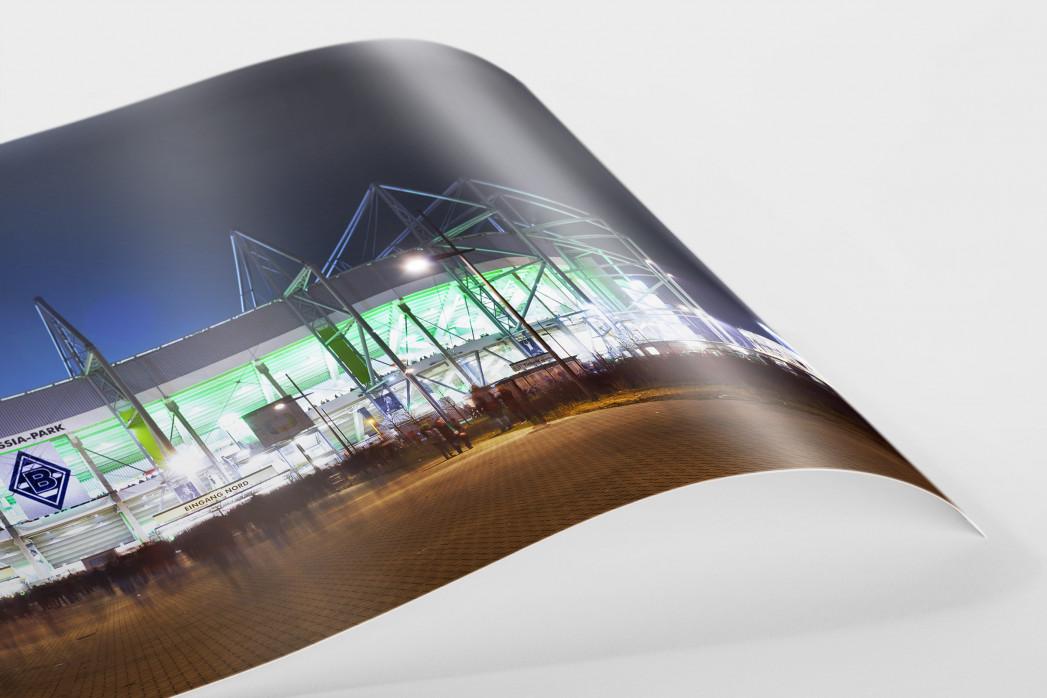 Borussia Park bei Flutlicht (Panorama) als FineArt-Print