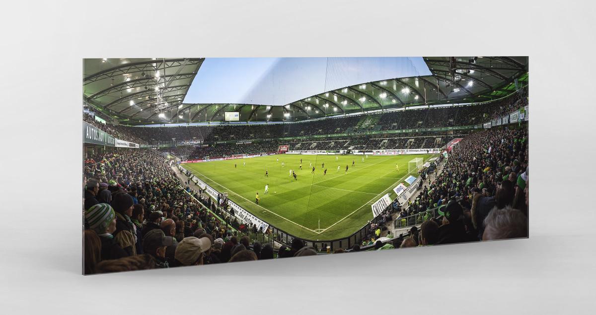 Wolfsburg (2015) als Direktdruck auf Alu-Dibond hinter Acrylglas