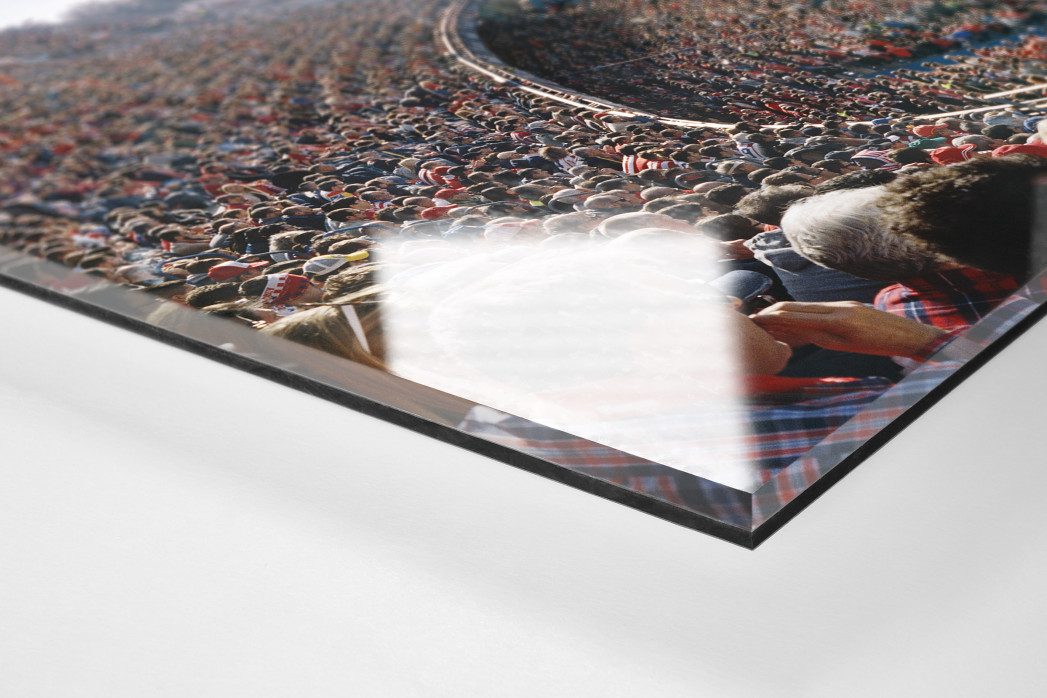 Madrid (Atletico) als Direktdruck auf Alu-Dibond hinter Acrylglas (Detail)