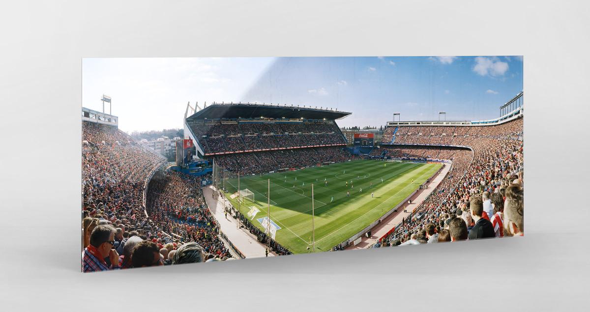 Madrid (Atletico) als Direktdruck auf Alu-Dibond hinter Acrylglas