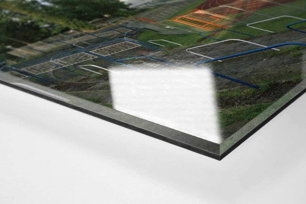 Brandenburg als Direktdruck auf Alu-Dibond hinter Acrylglas (Detail)