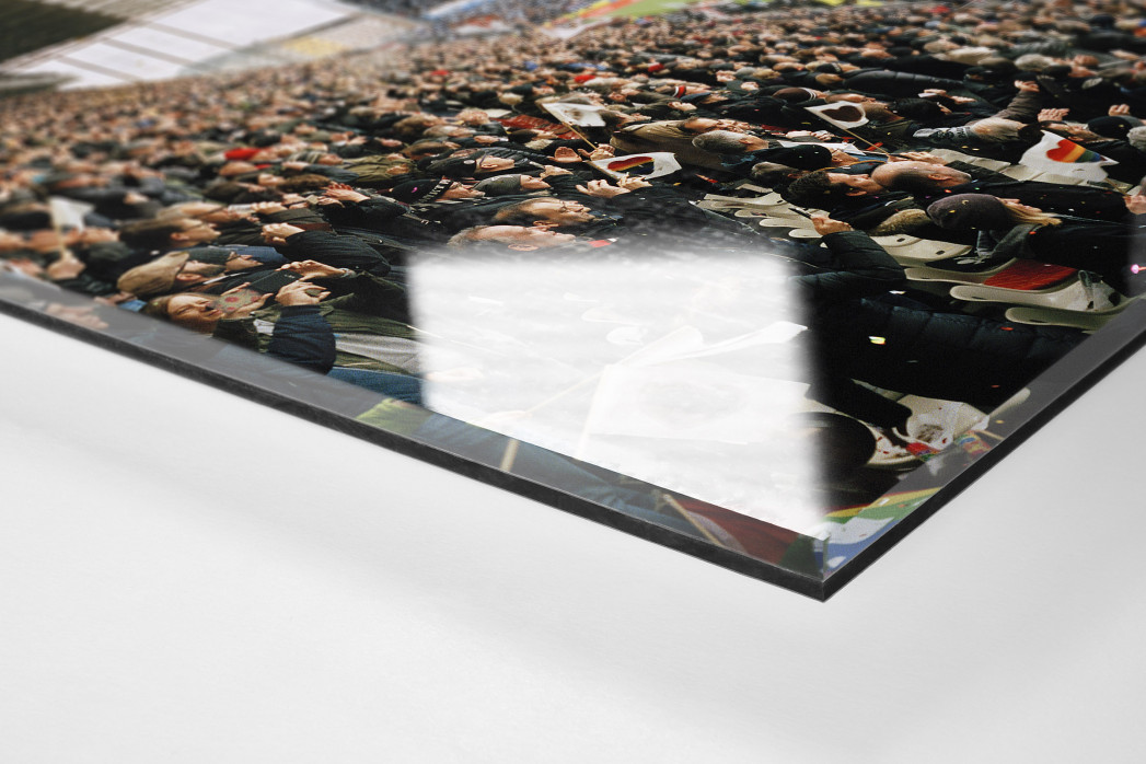 Hamburg (St. Pauli, 2019) als Direktdruck auf Alu-Dibond hinter Acrylglas (Detail)