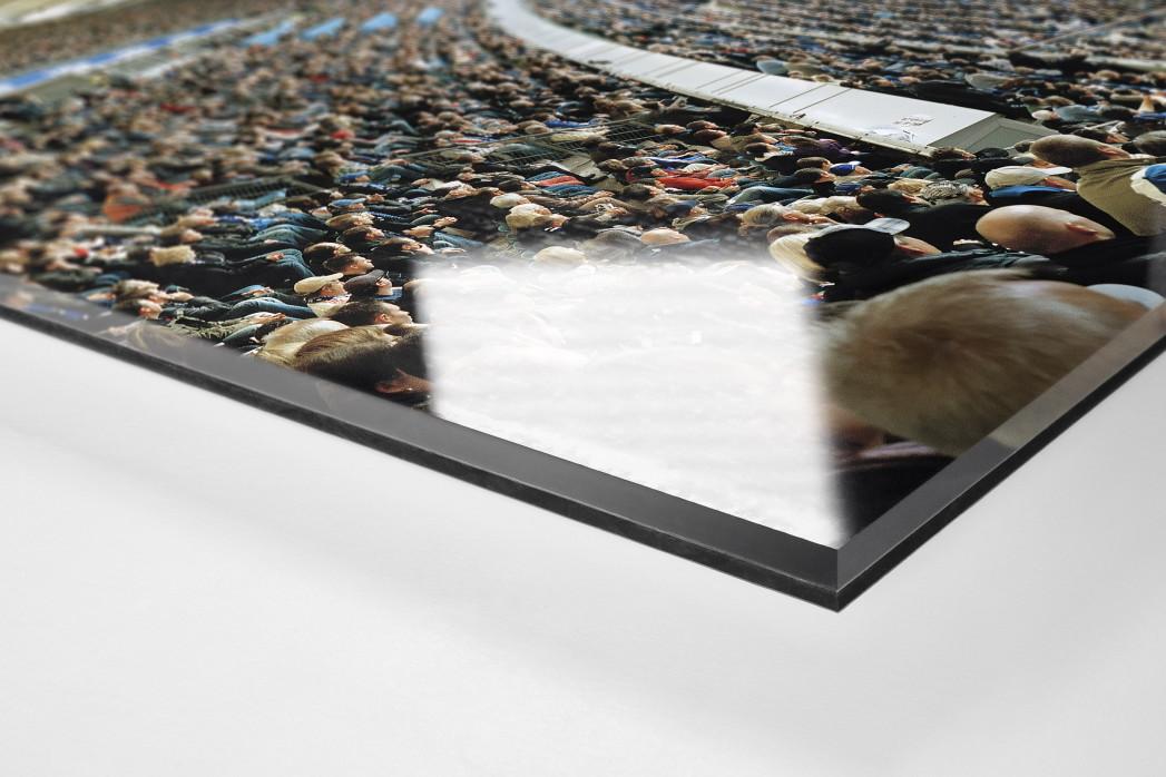 Hamburg (HSV, 2012) als Direktdruck auf Alu-Dibond hinter Acrylglas (Detail)