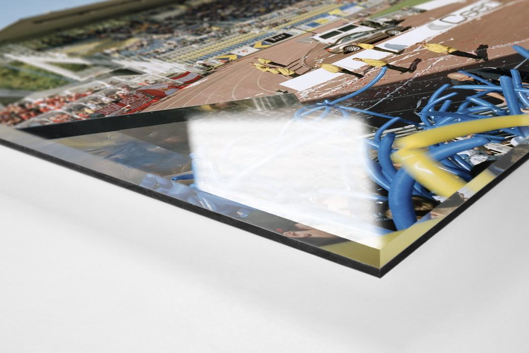 Jena als Direktdruck auf Alu-Dibond hinter Acrylglas (Detail)
