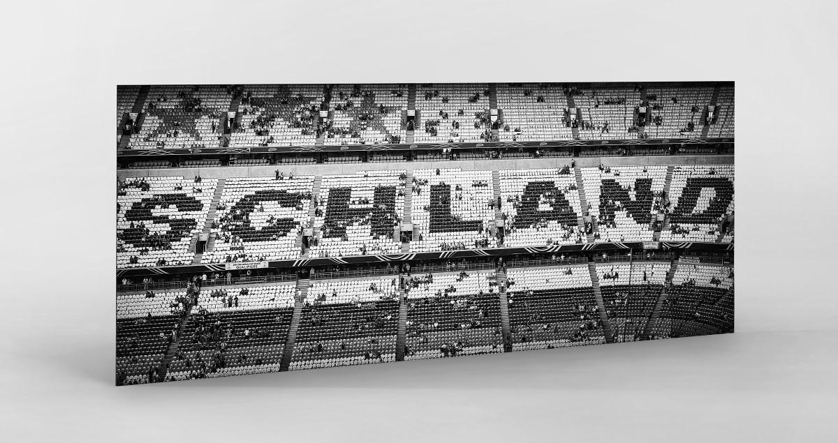 Schland in der Allianz Arena als auf Alu-Dibond kaschierter Fotoabzug