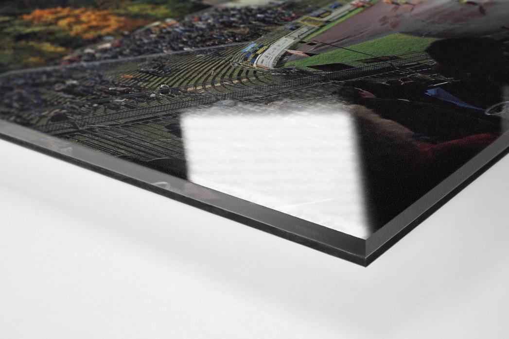 Saarbrücken als Direktdruck auf Alu-Dibond hinter Acrylglas (Detail)