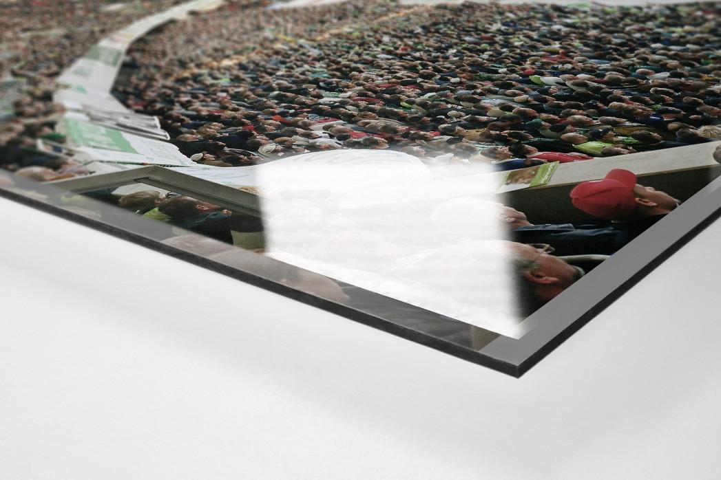 Wolfsburg (2003) als Direktdruck auf Alu-Dibond hinter Acrylglas (Detail)